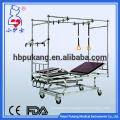 Profilé en acier inoxydable en acier Cadre de lit à triple manivelle lit d'hôpital orthopédique