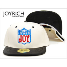 Logo Embroidery Patchwork Leather Bboy Baseball Cap