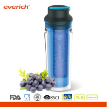 Everich New Clear Double Wall Insulated Tumblers 24oz With Lid
