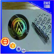 PET VOID 3D Hologram Sticker Label