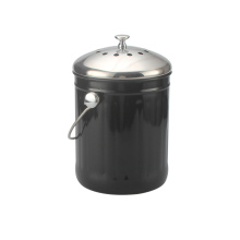 Escaninho preto do adubo ferramentas da cozinha de 1 galão ForStoraging