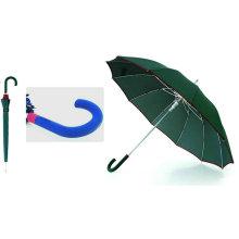 12 Ribs Automatic Fiberglass Windproof Edge Umbrella (YS-SM25123515R)