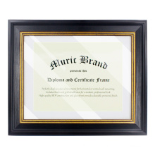 2020 new design custom wholesale black PS Wall Mounting graduation diploma certificate frame