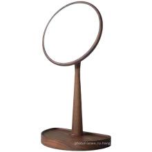 Рабочий стол ретро женщины красотка Деревянное обрамление Зеркало для макияжа