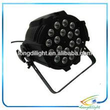 Schwarz 18 x 10W RGBW LED Alu Quad Par 64