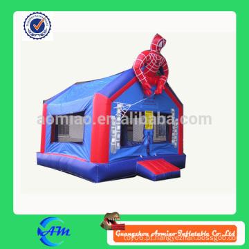 Alta qualidade 0.55mmPVC OEM inflável bouncer spiderman inflável casa bounce