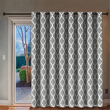 Puerta corrediza de vidrio - Cortina de puerta de patio superior con ojales