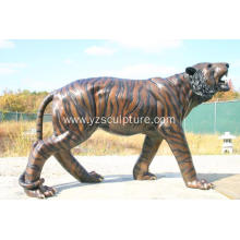 Life Size Brass Tiger Animal Statue