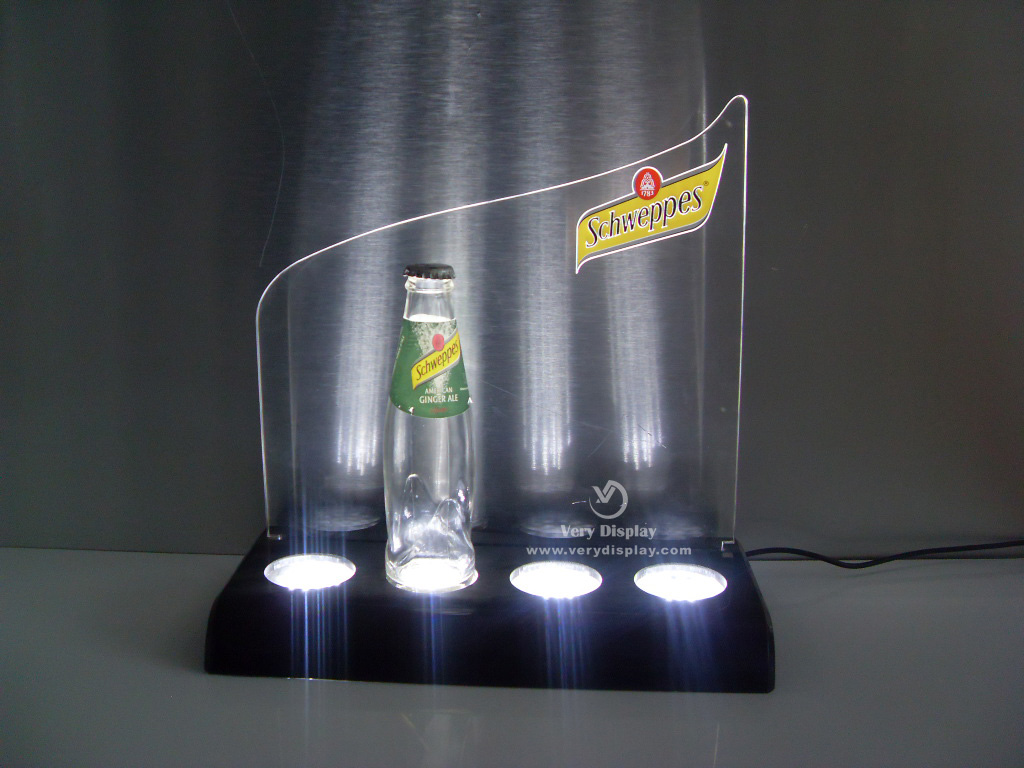 4-bottle light display