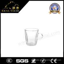 Copo de chá de vidro Pyrex de dupla parede