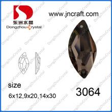 S Form Kaffee Farbe Kristall Perlen für Schuhe Dekoration