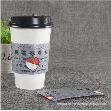 Disposable Printed Custom Black Hot Coffee Sleeve Cup Sleeve
