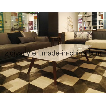Wooden Frame Marble Top Coffee Table (T-98)