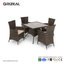 Ensemble de salle à manger carré 4 places en rotin extérieur OZ-OR060