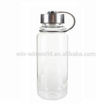 Wholesale Hand Blown Borosilicate Pyrex Glass Drinking Water Bottle 1L