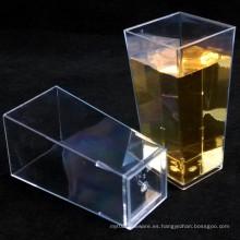 Taza plástica Copa geométrica alta Seagreen 3.5 onzas