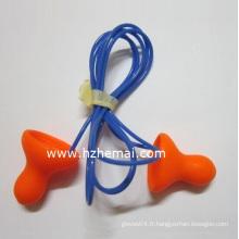 Wired Bell Disposable PU Foam Earplugs