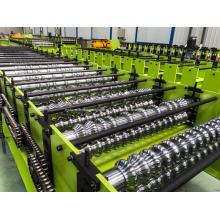 Máquina formadora de rolos de folha de produção de telhado ondulado