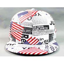Высокое качество фальшивая кожа плоские шляпы Brim с печатью