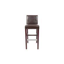 Solid Wooden PU Material Wood Frame Dining Chair