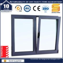 Economy Powder Coating Aluminium Glas Flügelfenster