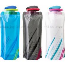 OEM BPA Free Folding Climbing Sport Water Bottle with Hook