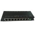 10/100м LAN 8 портов 8 портов выхода 12V PoE инжектор и сплиттер