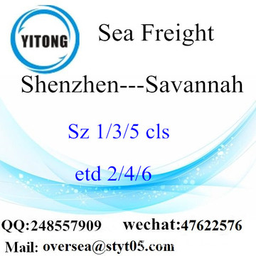 Shenzhen Port LCL Consolidation To Savannah