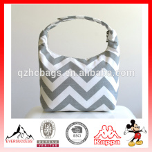 Chevron Printed Thermal Lunch Bags Insulated Tote Bag