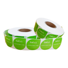 Eco Friendly Home Compostable Cellophane Sticker Bio Labels