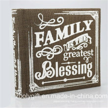 "Wholesale Printed Linen Fabric Family Photo Album for 4X6"", 5X7 "" Photos"