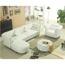 Canapé d'angle en cuir véritable de simple Style européen