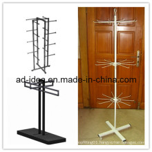 Large Shopping Malls Metal Hook Spinner Display Stand/Display Banner