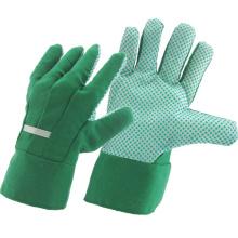 Рабочие перчатки для безопасной работы в технике безопасности с зеленой дрелью (41004)