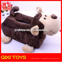 Лучшие ткани коробка чехол обезьяна плюшевые декоративные ткани коробка чехол