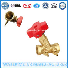 Water Meter Balancing Valves with Brass Body (Dn15-40mm)