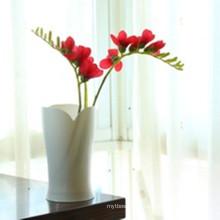 Vase en plastique de haute qualité en forme de pétale