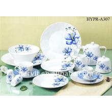 Juego de cena redondo de la porcelana, taza de la placa / de té y platillo / pote del té