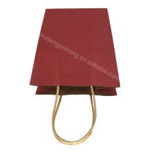 Выдвиженческое высокое качество крафт бумажный мешок с ручкой 15*21*8см