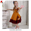 Baby sleeveless mustard pie clothing sets