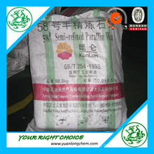 Top Quality for Paraffin Wax Kunlun Brand (58-60)
