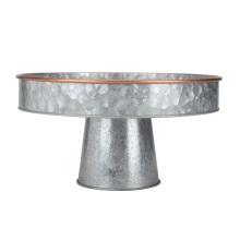 Деревенская декоративная оцинкованная металлическая противень