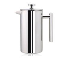 Bouilloire de café de presse française à double paroi en acier inoxydable de 1000 ml