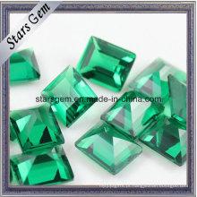 Wuzhou Synthetic Emerald Green Nano pedra solta