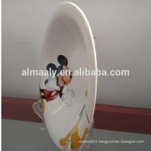 lovely design white procelain omega plate