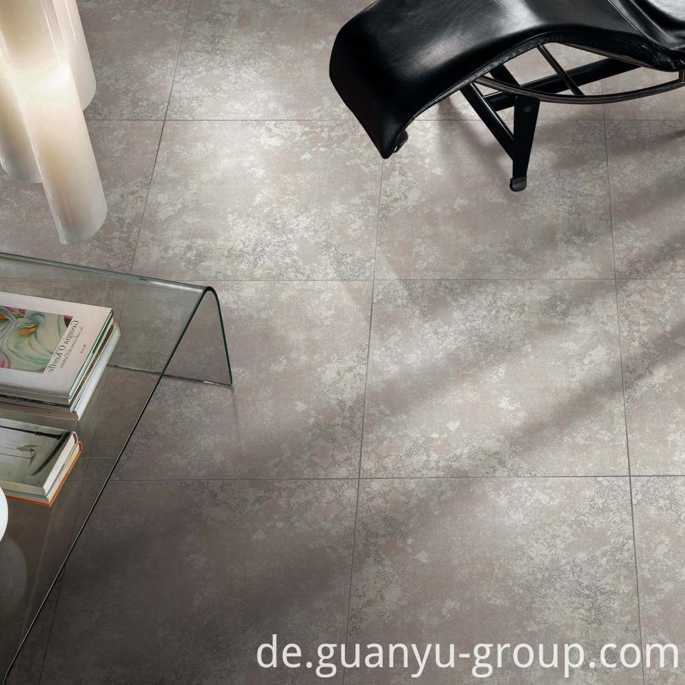 Luxury White Metal Look Porcelain Tile