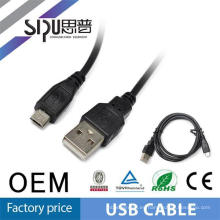 Transferencia de datos de SIPUO y carga Micro USB Cable para celular