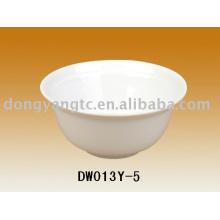 Logotipo personalizado por atacado 5 Polegada tigela de armazenamento de cerâmica, tigela de arroz, tigela de sopa, jogo da bacia de cerâmica, tigela de sobremesa, lanche tigela