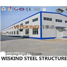 Edificio de estructura de acero de fácil instalación con material para paredes y techos