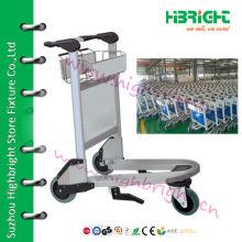 3 Wheel Stainless Steel Baggage Airport Trolley